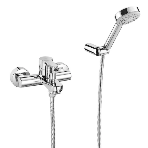 Roca L20 Wall Mounted Bath Shower Mixer Tap With Kit